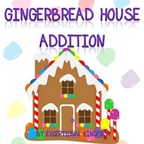 Christmas Gingerbread House Addition Mats - Decomposing Numbers