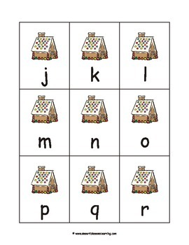 Gingerbread House Alphabet Games and Flashcards eBook