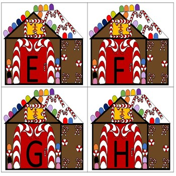 Gingerbread House Alphabet Match