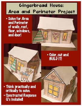 Christmas Area and Perimeter Gingerbread House Project (Build it!)