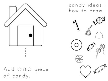 Gingerbread House Booklet using number words 0-10