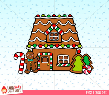 gingerbread house builder christmas clip art by littlered tpt rh teacherspayteachers com gingerbread house clip art images gingerbread house door clip art
