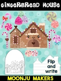 Gingerbread House + Candy - Moonju Makers for Activities, Craft, Decor, Writing