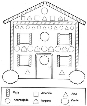 Gingerbread House-Casa de Ajenjibre- Review Colors in spanish