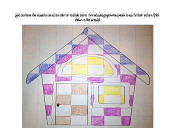 Gingerbread House Checkerboard Craftivity