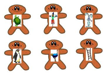 Gingerbread House Christmas Syllable Sort - A  Syllable Clapping game