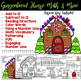 Gingerbread House Color By Number. Add, Subtract, Patterns, Reading, and More!