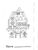 Christmas Gingerbread House Coloring Page 2