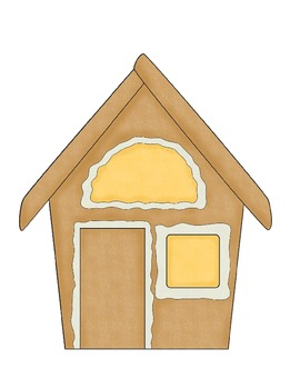 Gingerbread House Counting Mats