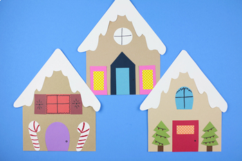 Gingerbread House Craft - Christmas Craft Activity