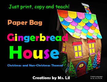 Gingerbread House Craft ::  Paper Bag Crafts  ::  Christmas Crafts