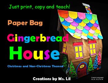 Gingerbread House Craft ::  Paper Bag Crafts  ::  Christma