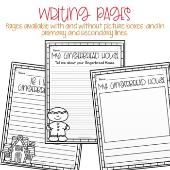 Gingerbread House Craft and Writing Activity
