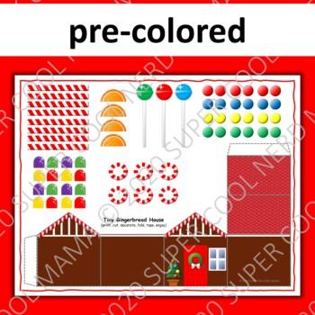 Gingerbread House Craftivity No Prep