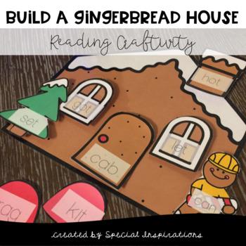 Gingerbread House Craftivity (Reading CVC Words)