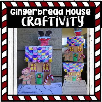 Gingerbread House Craftivity (craft + activity)