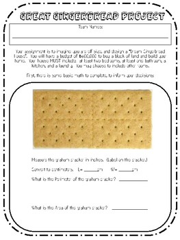Gingerbread House Design Math PBL