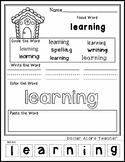 Gingerbread House - Editable Word Worksheet w/ Theme Focus