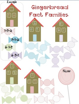 Gingerbread House Fact Families! {Holiday Themed!}