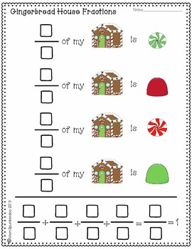 Gingerbread House Fractions