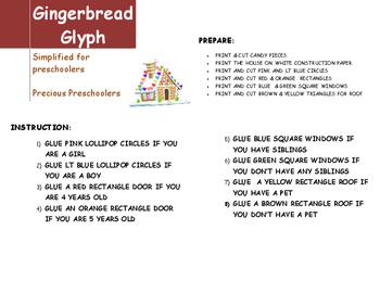 Gingerbread House Glyph simplified for Precious Preschoolers