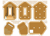 Gingerbread House Happy Holidays Photo Frame Pin Ornament