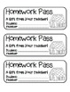 """""""Gingerbread House"""" Homework Pass –Holiday FUN! (full color & black line)"""