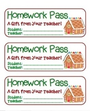 """Gingerbread House"" Homework Pass –Holiday FUN! (full color version)"