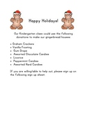Gingerbread House Letter and Sign Up Sheet- DJ Inkers Clipart