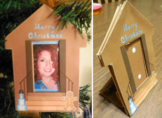 Gingerbread House Merry Christmas DIY Photo Frame Pin Orna