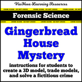 Forensic Science Gingerbread House Mystery 3D Model Activity Christmas Lesson