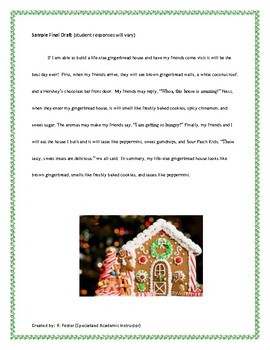 Gingerbread House Narrative Writing
