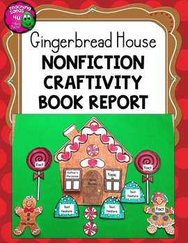 Gingerbread House Non-fiction Craftivity Book Report Project - Use With Any Book