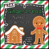 *FREE* Number Order to 20 Gingerbread Men