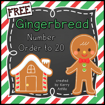 *FREE* Number Order to 20 Gingerbread Men