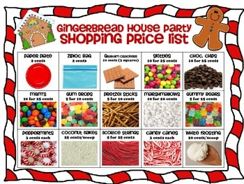 Gingerbread House Party All Month Long!  Earn and Learn!