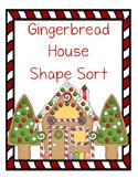Gingerbread House Pattern Block Shape Sort