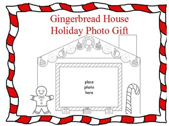 Gingerbread House Photo Present