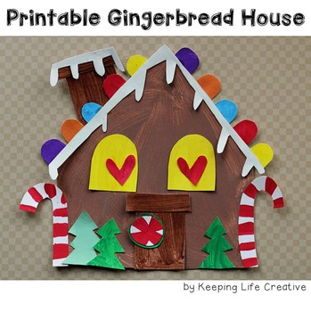 Gingerbread House Printable Craftivity