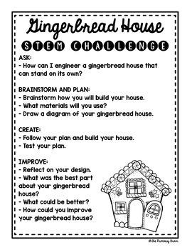 Gingerbread House STEM Challenge