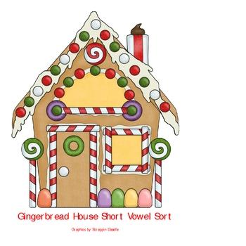 Gingerbread House Short Vowel Sort
