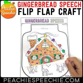 Gingerbread House Speech and Language Flip Flap Craft