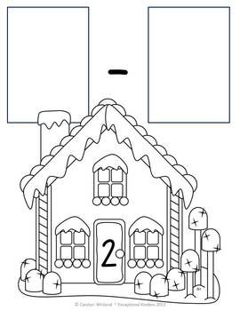 Christmas Gingerbread House Subtraction Mats