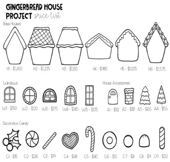 Gingerbread House Winter Math Project