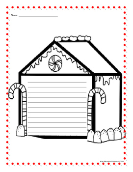 Gingerbread House Writing Paper