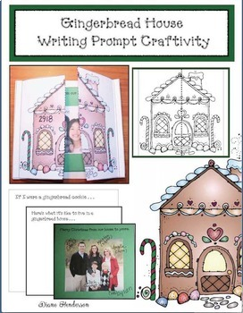 Gingerbread House Writing Prompt Craftivity Card