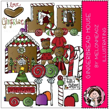 Melonheadz: Gingerbread House clip art - COMBO PACK