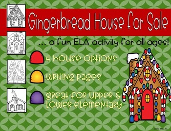 Gingerbread House/Winter House for Sale (with WRITING activities)