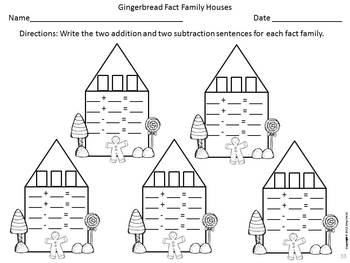 Gingerbread Houses: Fact Family Practice