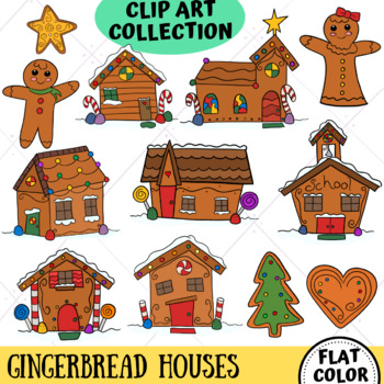 Gingerbread Houses from the Winter Wonder Land Clip Art Series